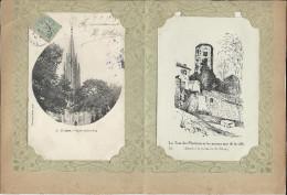 Rare Lot N:2  De  19 Liithographies & C Postales  Divers Sur Les Eglises D´ Agen  Format 16 X25 Cm. - Historische Documenten