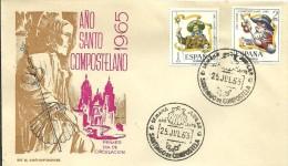 MAT 1965 AÑO SANTO SANTIAGO DE COMPOSTELA - 1961-70 Briefe U. Dokumente