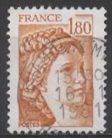 FRANCE 1977 Sabine Of Gandon - 1f.80 - Brown  FU - 1977-81 Sabine Of Gandon