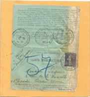 PNEUMATIQUE 30c SEMEUSE POUR CHARENTON MAGASINS GENERAUX