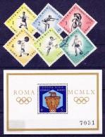 COSTA RICA   - 1960 - Michel N° 570, ....574 En 576  + Blok/bloc  N° 4  -  GETAND  -  Olympische Spelen Rome - ° En * - Costa Rica