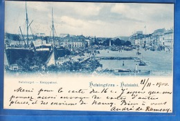 HELSINGFORS HELSINKI SALUTORGET KAUPPATORI 1900 - Finlande