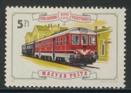 """Hungary Ungarn 1976 Mi 3163 A YT 2529 ** """"RABA"""" Diesel Railcar (1971) + Railway Station Ödenburg / Triebwagen - Treinen"""