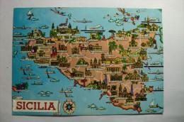 Sicilia, Trapani, Erice, Alcamo, Corleone, Ribera, Mussomeli, Agrigento, Enna, Nicosia, Paterno, Catania, Lentini, - Zonder Classificatie
