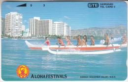 HAWAII - Canoe, Aloha Festivals(reverse B), Tirage 1000, Mint - Hawaii