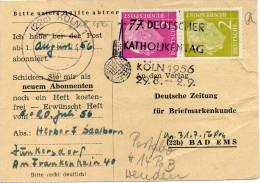 BUND S 19 Zdrauf Postkartenausschnitt (ABO-DBZ) KÖLN - BAD EMS - Se-Tenant