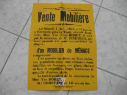 Affiche.  Vente notariale  REMIREMONT - LE THOLY (Bouvac�te)   Vosges (88)