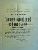 """51 canal lateral de la marne - dizy - ay  """" chomage exceptionnel de quatre jours """" 44 cm x 31 cm"""