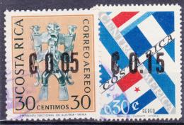 COSTA RICA   - 1964 - Michel N° 658 En 660 - Zegels 1964 Met Opdruk Nieuwe Waarde   - ° - Costa Rica