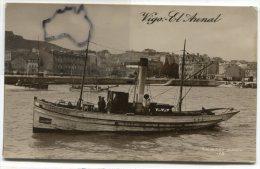 - Vigo  - El Arenal - Bateau Pilote,  Remorqueur ?, Peu Courante, Beau Cliché, Non écrite, Glacée, BE, Scans. - Espagne