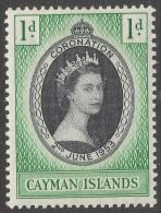Cayman Islands. 1953 Coronation. 1d MH. SG 162 - Cayman Islands