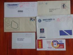 15 SOBRES CIRCULADOS PROPAGANDA URUGUAY MATASELLOS RAROS OHL - Postzegels