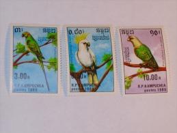 CAMBODGE / CAMBODIA  1989   LOT # 21  BIRDS - Cambodge