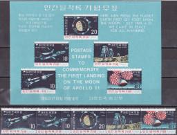 Wen_ Süd Korea - Mi.Nr. 664 - 668 + Block 285 - Postfrisch MNH - Weltraum Space Apollo - Azië