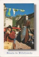 CPM : Géants De Villefranche De Conflent. Matiès Mazarico Musicien Et Guillem Ramon - Autres Communes