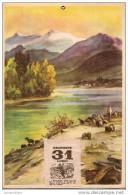 Calendrier/Support D´èphémeride Usagé/Carton Imagé/Troupeau De Moutons/Auprés D'un Lac/1944          CAL252 - Calendriers