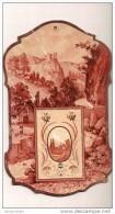 Calendrier/Support D´èphémeride Usagé/Carton Imagé/Paysage De Montagne/Genre Art Déco/1905          CAL253 - Calendriers