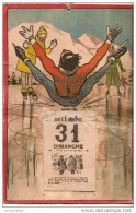 Calendrier/Support D´èphémeride Usagé/Carton Imagé/Moniteur De Patinage à Glace Chutant/Humour/1939      CAL255 - Calendriers