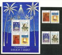Noël Samoan 1977.   Un BF + 4 T-p Neufs **  ILES SAMOA - Samoa