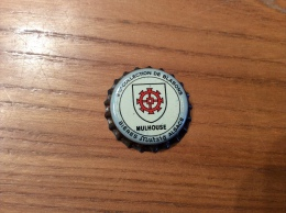 """Ancienne Capsule De Bière """"2eme COLLECTION DE BLASONS - MULHOUSE - BIÈRES Mutzig ALSACE"""" (67) Blason - Cerveza"""