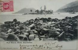 CPA - SEYCHELLES. Port Gland. Mahé. Voyagé Timbre 1906 - Seychellen