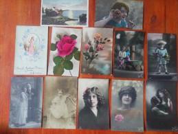 LOTE DE +320 POSTALES POSTALES ROMANTICAS NIÑOS MUJERES PAREJAS EXCELENTE ESTADO DIVERSAS CALIDADES CIRCULADAS Y NO  OHL - 100 - 499 Postkaarten