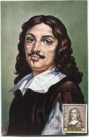 ESPAGNE CARTE MAXIMUM DU N°1165  1p. AUTOPORTRAIT TABLEAU DU PEINTRE JOSE DE RIBERA DIT L´ESPAGNOLET (1588-1662) - Tarjetas Máxima