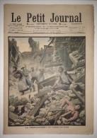 Le Petit Journal 27/06/1909 - Le Tremblement De Terre Du Midi - Les Soldats Procèdant Au Sauvetage Des Blessés - Draner - Zeitungen