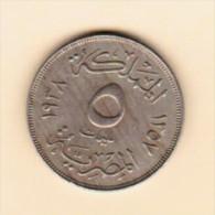 EGYPT   5 MILLIEMESS 1938 (AH 1357) (KM # 363) - Egypte