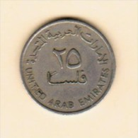 UNITED ARAB EMIRATES  25 FILS 1973 (AH 1393) (KM # 4) - Emirats Arabes Unis