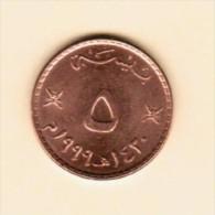 OMAN   5 BAISA 1999 (AH 1420) (KM # 50) - Oman