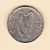 IRELAND  6 PENCE 1962 (KM # 13a) - Ireland