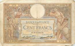 Billet - 100 Francs Luc Olivier Merson  20 - 12 - 1932 - 1871-1952 Antichi Franchi Circolanti Nel XX Secolo