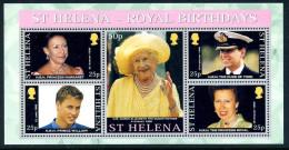 St. Helena 2000 Royal Birthdays MS, MNH - Saint Helena Island