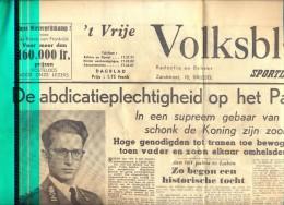 Krant Gazette 't Vrije Volksblad - Koningskwestie - 17 Juli 1951 - Livres, BD, Revues