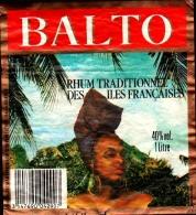 Etiquette De RHUM -  BALTO - Rhum