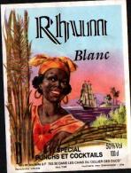 Etiquette De RHUM -  RHUM BLANC SPECIAL PUNCHS Et COCKTAILS - Rhum