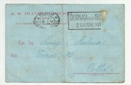 B 775 I) CALCIO-CONVOCAZIONE DIAVOLI AZZURRI AL CAMPO RONDINELLA DI ROMA-1940 - Soccer