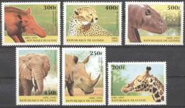 Guinea 1997 - MNH - Cheetah, Elephants, Giraf, Hippo, Hog, Rhinoceros - Francobolli