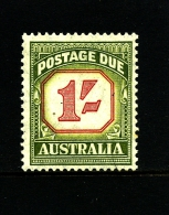 AUSTRALIA - 1954  POSTAGES DUES  1/ CARMINE&YELL/GREEN NEW DESIGN  MINT NH  SG D129 - Portomarken