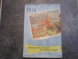 Editions Des Artistes Peintres De La Bouche Ou Du Pied (1 Illustration Par 2 Semaines)  31 Pages - Calendriers