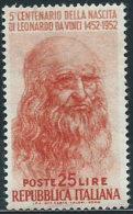 Italia 1952 Nuovo** - Leonardo Da Vinci £ 25 - 6. 1946-.. Repubblica