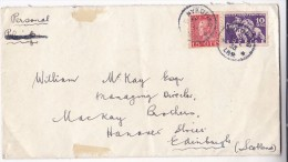 1935 Nykoping SWEDEN COVER Stamps HORSE  Etc To GB Horses - Sweden