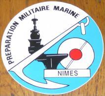 Autocollant Marine Nationale - Préparation Militaire Marine De Nîmes - Autocollants