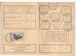 FRANCIA 1943 MARCUT CARTE D´ANONNEMENT AUX EMISSIONS DE TIMBRES POSTE MEZIERES - Zonder Classificatie