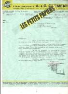 LUXEMBOURG - Facture CLEMENT - Scierie - Bois - Matériaux – 1937 - REF 225 - Luxemburgo