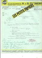 LUXEMBOURG - Facture CLEMENT - Scierie - Bois - Matériaux – 1940 - REF 225 - Luxembourg