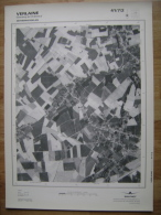 GRAND PHOTO VUE AERIENNE  66 Cm X 48 Cm De 1979  VERLAINE SERAING LE CHATEAU - Topographische Karten