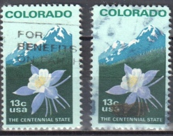 United States 1977 Colorado Statehood   - Sc # 1711 - Mi.1299 A.F - Perf 11 And 11¼ - Used - Oblitérés