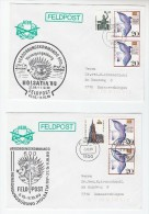 2 X DIFFERENT GERMANY Feldpost Holsatia MILITARY EVENT COVER Illus HEDGEHOG Forces Stamps - Stamps